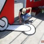 Circumwriting 2004, stazione di via Gianturco, Iabo a lavoro