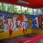 Circumwriting 2004, stazione via del Monte, lavoro di Kaf