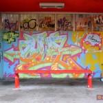 Circumwriting 2004, stazione via del Monte, lavoro di Sha One