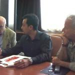 Conferenza stampa di Circumwriting, con Luca Borriello e il critico d'arte Achille Bonito Oliva