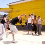 Break dance presso la stazione di via Leopardi