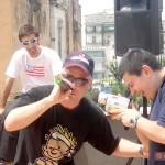 Circumwriting 2004, rap performance presso la stazione di Torre Annunziata. In primo piano, Luca G, alle spalle Max Bucci