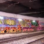 Circumwriting 2004, stazione di Porta Nolana. In foto lavori di Biz, Slork, Sha One, Neoh, Demon, Ozon, Zeal, Zerok, Hegs, Worn