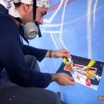 Circumwriting 2004, stazione di Trecase, Poison21 a lavoro
