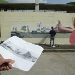 ''I colori della vita contro la violenza: 167xScampia'', Deor, Army e Raffo a lavoro