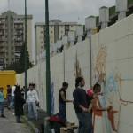 ''I colori della vita contro la violenza: 167xScampia'', artisti a lavoro