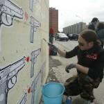 ''I colori della vita contro la violenza: 167xScampia'', Iabo a lavoro