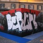 W3 per il XIX anno dalla caduta del Muro di Berlino in in Piazza Mignanelli a Roma