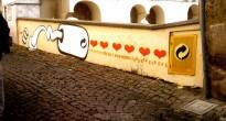 Uno dei lavori realizzati da Iabo n occasione di ''Stradarolo. Festival internazionale delle arti di strada''
