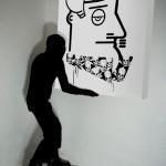 """Reazioni in Catena, particolare dell'installazione  """"Mariuolismo"""" presso la NOTgallery"""