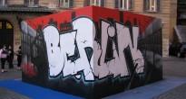 L'opera ''Berlin'' realizzata da Zeus40 e Rota durante la performance W3 -  XIX anno dalla caduta del Muro di Berlino