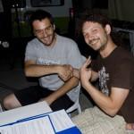 oTheWriting! Emilia Romagna: Massimiliano Landuzzi (presidente ACU Tinte Forti) e Federico Bandini (presidente ACU Romagna in Fiore) subito dopo la firma della manifestazione di interesse. Cesena 18 luglio 2009.