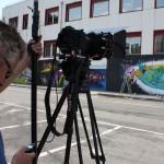 Smemo Per la Creatività Urbana - Torino, riprese dell'opera di Mr. Fijodor