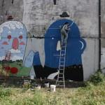Smemo Per la Creatività Urbana - Roma, Mr.Thoms e Agostino Iacurci a lavoro