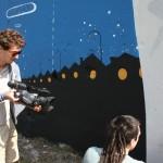 Smemo Per la Creatività Urbana - Napoli, riprese dell'opera a quattro mani di Mr. Thoms e Agostino Iacurci