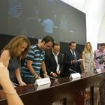 I rappresentanti delle organizzazioni firmatarie del protocollo European Graffiti a Roma
