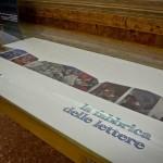 La Fabbrica delle Lettere, mostra del progetto Alephactory, presso la Biblioteca Nazionale del Palazzo Reale di Napoli. Un dettaglio dell'allestimento.