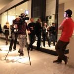 Nartist. Mr. Wany durante l'intervista per Sky Arte. Roma 2013.