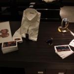 Nartist. Un'opera di Mr. Wany nel polsino di camicia. Roma 2013.