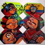 Microtele di Mr.Wany per NARTIST ispirate al murale realizzato in Ecuador