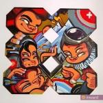 Microtele di Mr.Wany per NARTIST ispirate al murale realizzato in Svizzera