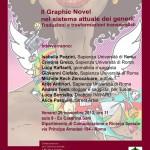 Locandina per la giornata di studi ''Il Graphic Novel nel sistema attuale dei generi. Traduzioni e trasformazioni transmediali''