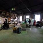 Il laboratorio Santoriello adoperato come sede artistica dagli street artist per il progetto Ad Majolica - Museo Diffuso delle Maioliche della Street Art