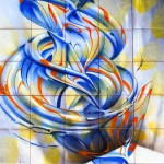 Ad Majolica – Museo Diffuso delle Maioliche della Street Art. Made514, ''Tangerine sound''
