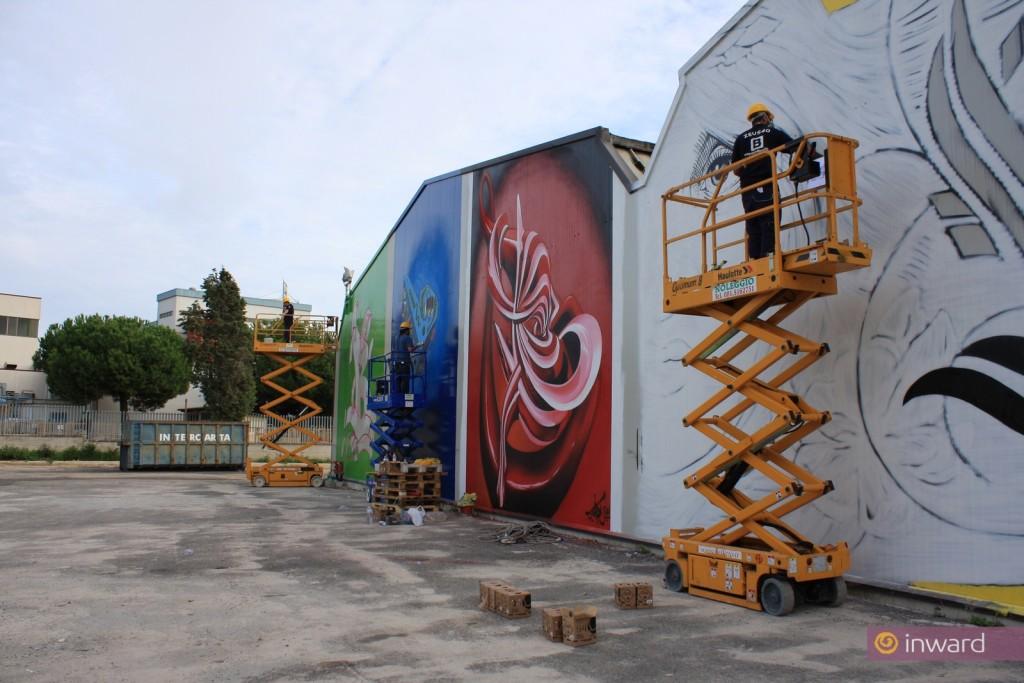 Alephactory, il grande cantiere di creatività urbana per Arti Grafiche Boccia S.p.A., Salerno 2010.