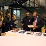 Cinque dei nove artisti di Alephactory con il notaio incaricato di autenticare le firme sulle stampe realizzate per il progetto Alephactory. Da sinistra a destra, Etnik, ZenTwo, Pencil08, Zeus40, Opium. Salerno 2010.