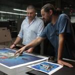 """""""Alephactory, a different imprinting"""": Etnik assiste alla produzione della stampa d'arte firmata e numerata in edizione limitata per Arti Grafiche Boccia."""