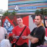 """""""W3 - Wriitng al Cubo""""  per la BJCEM - Biennale dei Giovani Artisti dell'Europa e del Mediterraneo, Fiera del Levante, Bari, 2008. Quaranta street artisti per dieci cubi dei colori di altrettante proprietà del Mediterraneo per l'evento """"Kaleidos"""", dalla cui esperienza e dal cui nome nascerà l'omonima ACU pugliese."""