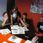 I ragazzi di CUNTO con ShaOne in fase laboratoriale per la sceneggiatura e la preparazione del video musicale ''Rosario''