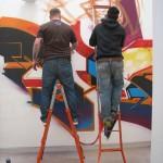 Street Museum - TIM Tribù, Aroe e Mr.Wany a lavoro
