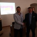 """""""Graffiti Heart"""" con Ivan Panteleev, direttore del MOST - Festival internazionale di street art di Mosca e Michele Campi, Sindaco di Caltanisetta"""