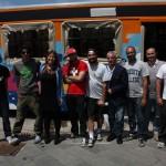 Vans Off The Wall Spring Classic 2014 con le ACU ''Bereshit'' ''StoneAge'' e ''400ml'', foto di gruppo con Alessandra Clemente dell'Assessorato ai Giovani e  alla Creatività Urbana del Comune di Napoli