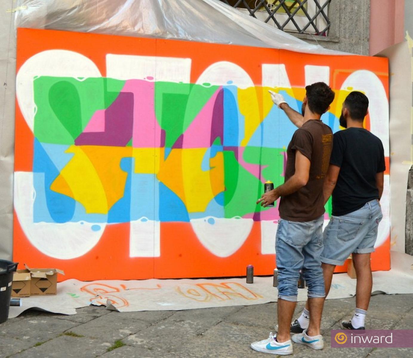Napoli Città Creativa in Pop Art. Creatività Urbana: il colore, innanzitutto