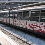 Artworks di Sha One, Eno, Zen Two e Pope per le pellicole di rivestimento treni della Circumvesuviana, 2005.