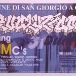 Il flyer della jam Evoluzioni, San Giorgio a Cremano (Napoli), 1998. Tra i writers invitati, Chiuto, Kaf, Polo, Sha1, Zemi.