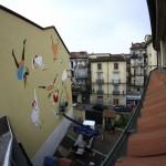 """Lisa Lazzaretti per la seconda edizione di """"Picturin"""", festival europeo di muralismo. INWARD componente della commissione di valutazione delle proposte artistiche. Torino, 2011."""