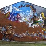 """Deder per la seconda edizione di """"Picturin"""", festival europeo di muralismo. INWARD componente della commissione di valutazione delle proposte artistiche. Torino, 2011."""