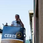 Zedz a lavoro al Teatro Colosseo di Torino per Ceres e INWARD, con la collaborazione della Galleria Square23