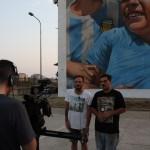 Rosk&Loste durante le riprese per lo spot Ceres ''In strada C'è Colore''