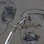 Work in progress di ''Chi è vuluto bene, nun s'o scorda'',  l'opera realizzata da Rosk&Loste per Ceres
