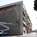 Work in progress '''A pazziella 'n man' 'e criature'' , l'opera realizzata da ZED1 grazie al sostegno del Rotary Club Campania Napoli
