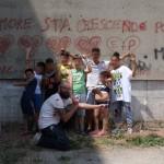 ZED1 con i piccoli aiutanti del Parco Merola