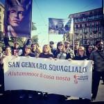 """""""Gennaro"""" come simbolo della città: corteo a Napoli, marzo 2017"""