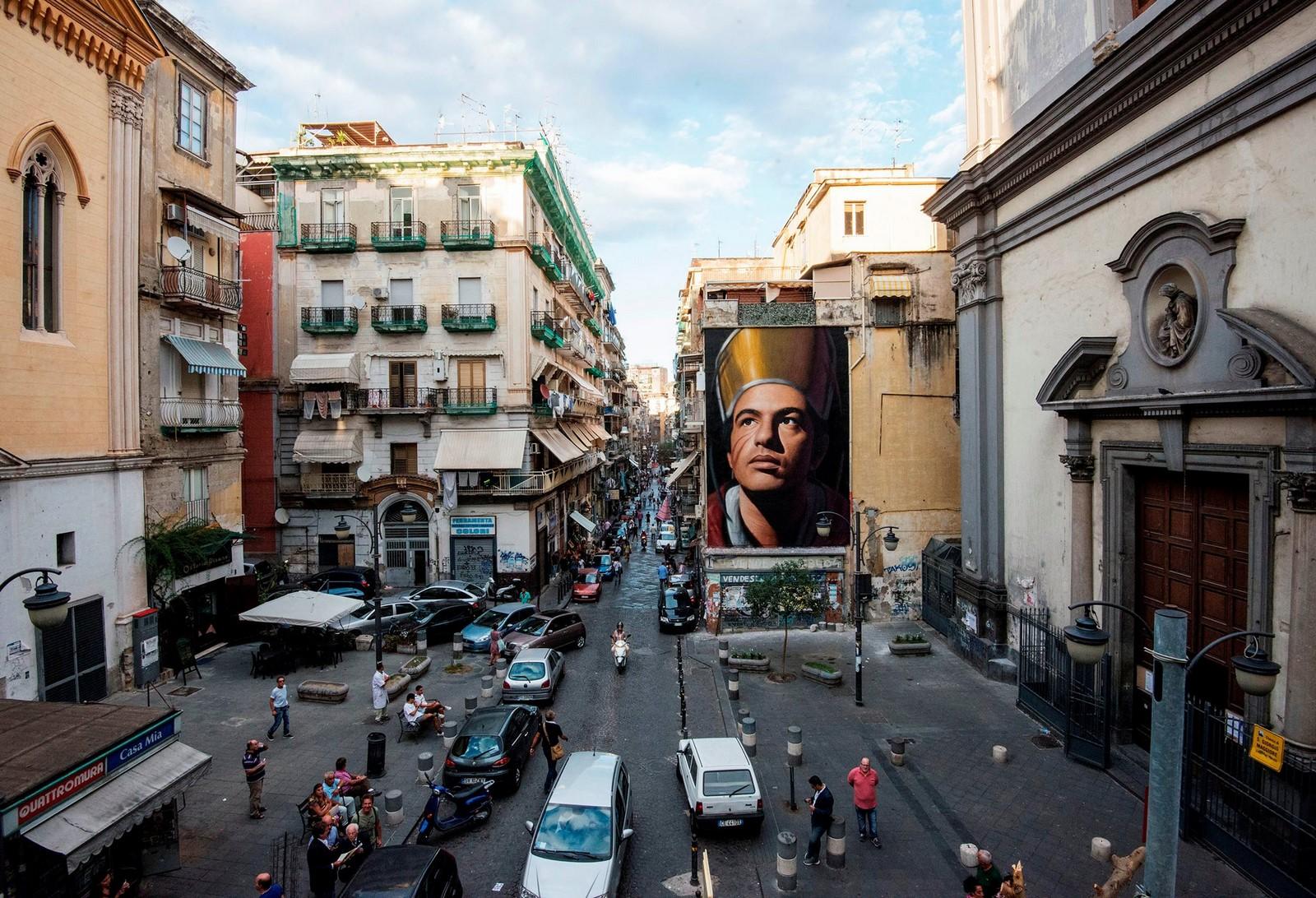 """Gennaro"", l'opera di Jorit a Napoli"