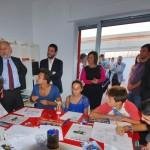 Il Sottosegretario all'Istruzione Marco Rossi Doria visita il Centro Territoriale per la Creatività Urbana con il direttore sviluppo INWARD Salvatore Pope Velotti.