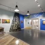 L'allestimento di ''Electric Breeze'', mostra di NOSEGO alla Galleria Varsi
